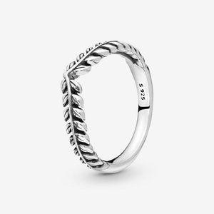 Pandora Wheat Grains Wishbone Ring